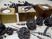 Svietidlá a sviečky - Sada drevených svietnikov - 9148811_
