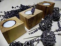 Svietidlá a sviečky - Sada drevených svietnikov - 9148812_