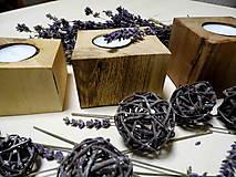 Svietidlá a sviečky - Sada drevených svietnikov - 9148813_
