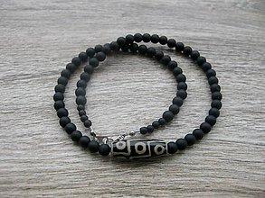 Šperky - Pánsky náhrdelník okolo krku z minerálov - chirurgická oceľ - 9145802_