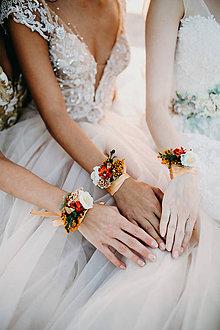 Náramky - Set kvetinových náramkov pre družičky