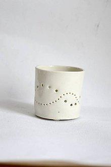 Svietidlá a sviečky - Porcelánový svietnik (Porcelánový svietnik Vlnky) - 9147056_