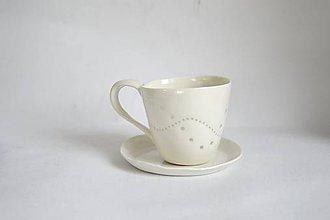 Nádoby - Set porcelánových šálok s tanierikmi - 9148801_