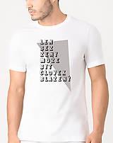 Tričká - Len bez ženy... - tričko s autorskou potlačou - 9148911_