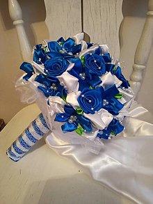 Kytice pre nevestu - Rozkvitnutá modrá - 9147546_