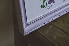 Obrázky - Bylinky (Bylinky vo fialovom ráme (1ks)) - 9145290_