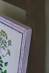 Obrázky - Bylinky (Bylinky vo fialovom ráme (1ks)) - 9145303_