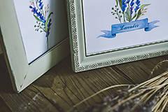 Obrázky - Bylinky - predané (Levandule v zelených rámoch (2ks)) - 9145317_