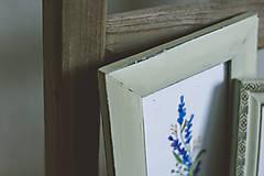 Obrázky - Bylinky - predané (Levandule v zelených rámoch (2ks)) - 9145320_