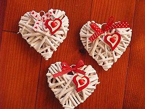 Dekorácie - Valentínske srdiečka 10 cm - 9145354_