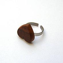 Prstene - Slivkové srdiečko na prštek - 9148471_