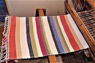 Úžitkový textil - Tkaný koberec pestrofarebný 2 - 9144759_
