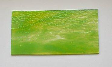 Suroviny - Sklo pruhované, svetlo zelené, zn. Bullseye - 9150167_