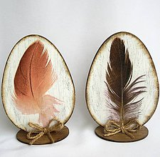 Dekorácie - Veľkonočné vajíčko - pierko - 9151668_