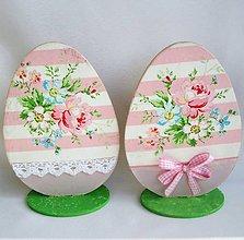 Dekorácie - Veľkonočné vajíčko-ružičky - 9151692_