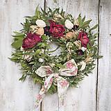 - Veľkonočný veniec s ružami a mašľou - 9152476_