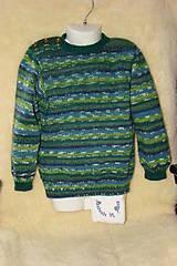 Ručne pletený vlnený sveter  / pulóver /