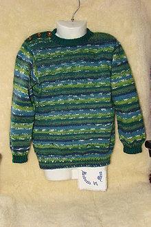 Detské oblečenie - Ručne pletený vlnený sveter  / pulóver / - 9152013_