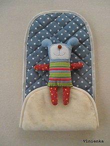 Textil - Podložka do vaničky Joolz DAY 2 100% merino Hviezdička modrosivá - 9150957_