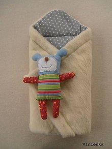 Textil - RUNO SHOP Zavinovačka pre bábätka/ miminká 100% Merino Top - 9151082_