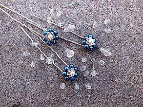 Ozdoby do vlasov - vlásenka modrá - sada - 9150205_