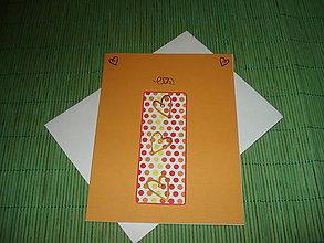Papiernictvo - pohľadnica bodkované srdiečka - 9152603_