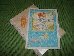 Papiernictvo - pohľadnica  - na prechádzke - 9152662_