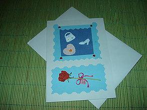 Papiernictvo - pohľadnica - srdiečko,kabelka a topánočka - 9152882_