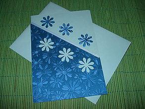 Papiernictvo - pohľadnica - modrá lúka - 9152904_