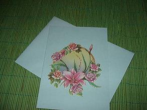 Papiernictvo - pohľadnica - ruže pri jazere - 9152909_