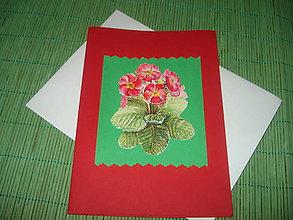 Papiernictvo - pohľdnica - jarné kvety - 9152925_