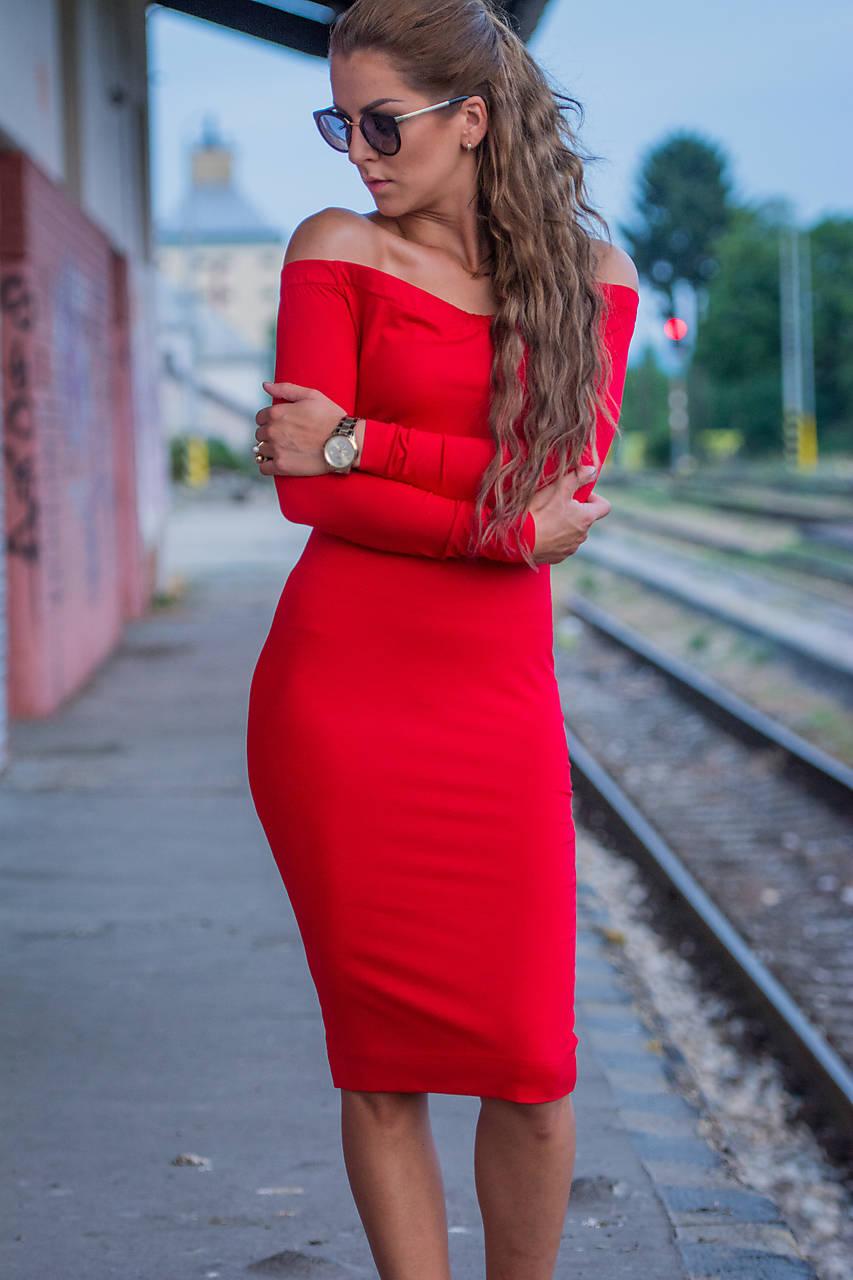 S holými ramenami červené.   veronikaIN FASHION - SAShE.sk 31b4826dce7