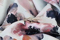 Prstene - Pozlátený prsteň so srdiečkom - 9152208_