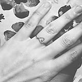 Prstene - Pozlátený prsteň so srdiečkom (ružové zlato) - 9152242_