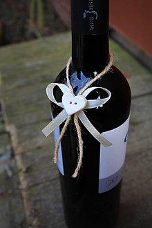 Darčeky pre svadobčanov - Stuhy na svadobné flašky - 9151826_