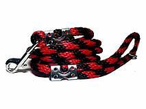 Vodítko červeno-čierne 12 mm, délka 160 cm