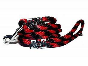 Pre zvieratká - Vodítko červeno-čierne 12 mm, délka 160 cm - 9150153_
