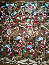 Textil - Exkluzívny vyšívaný tyl - 9151237_