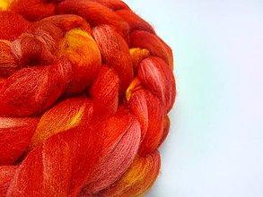 Textil - Merino farebné - ohnivé - 9150299_
