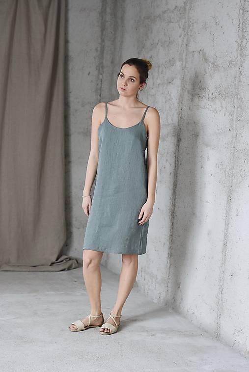 Šaty - Ľanové slip šaty ANNA - dostupné v 18 farbách - 9153375_