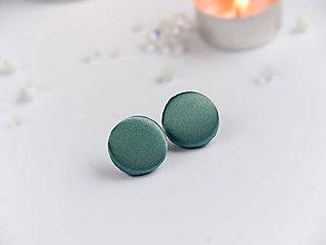 Náušnice - Náušnice napichovacie textilné 22 mm (Slabo modré) - 9152569_