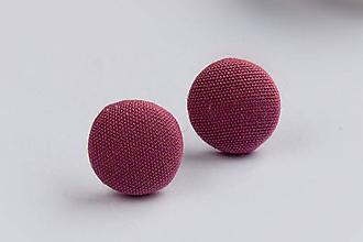 Náušnice - Napichovacie náušnice 16 mm (Ružové) - 9152607_