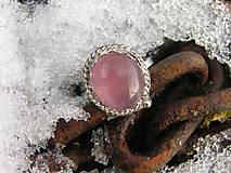 Strieborny prsteň Ag 925 Ruženín