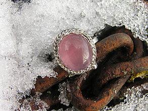Prstene - Strieborny prsteň Ag 925 Ruženín - 9152004_