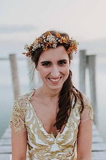 Ozdoby do vlasov - Naturálny svadobný polvenček