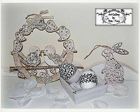 """Dekorácie - Velkonočny set """"Black&white ornament"""" :) - 9150214_"""