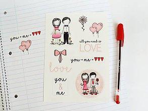 Papiernictvo - Len ja a môj svet - Samolepky LOVE - 9151730_