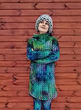 """Mikiny - """"Knitted Mountain´s Lake"""" termo mikina - 9151141_"""