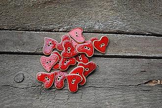 Dekorácie - Gombíčky červené - 9150282_