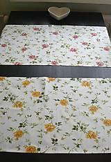 Úžitkový textil - Obrus - štóla ruže 45 x 140 - 9151140_